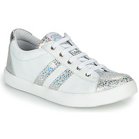 Chaussures Fille Baskets basses GBB MAPLUE Blanc / Argenté