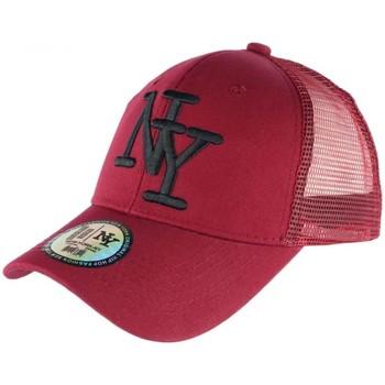 Accessoires textile Casquettes Hip Hop Honour Casquette Filet NY Rouge et Noire Fashion Trucker Gybz Rouge