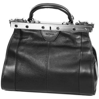 Sacs Femme Sacs porté main Katana Sac Diligence Cuir De Vachette 83250 - Taille S Noir