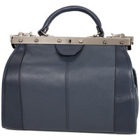 Sacs Femme Sacs porté main Katana Sac Diligence Cuir De Vachette 83250 - Taille S Bleu