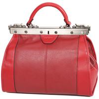 Sacs Femme Sacs porté main Katana Sac Diligence Cuir de Vachette 83250 - Taille S Rouge