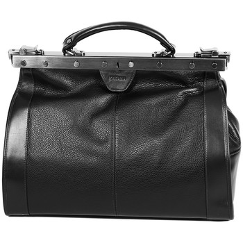 Sacs Femme Sacs porté main Katana Sac Diligence Cuir De Vachette 83251 - Taille M Noir