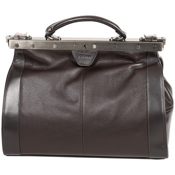 Sacs Femme Sacs porté main Katana Sac Diligence Cuir De Vachette 83251 - Taille M Chocolat