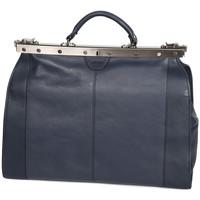 Sacs Femme Sacs porté main Katana Sac Diligence Cuir de Vachette 83252 - Taille L Bleu