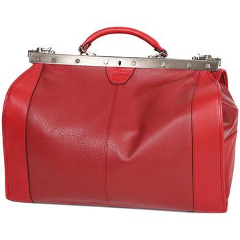 Sacs Femme Sacs porté main Katana Sac Diligence Cuir de Vachette 83252 - Taille L Rouge