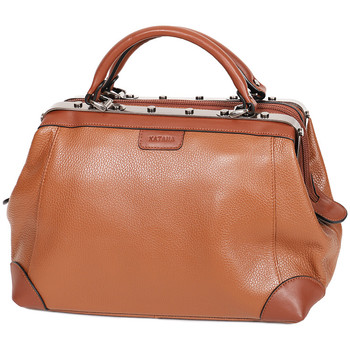 Sacs Femme Sacs porté main Katana Sac Squaremouth Cuir De Vachette 83253 - Taille S Marron clair