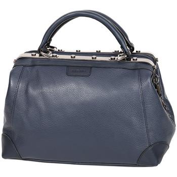 Sacs Femme Sacs porté main Katana Sac Squaremouth Cuir De Vachette 83253 - Taille S Bleu