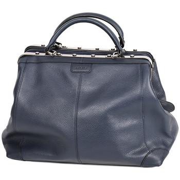Sacs Femme Sacs porté main Katana Sac Squaremouth Cuir De Vachette 83254 - Taille M Bleu