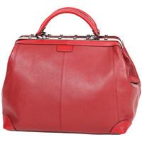 Sacs Femme Sacs porté main Katana Sac Squaremouth Cuir De Vachette 83254 - Taille M Rouge