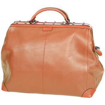 Sacs Femme Sacs porté main Katana Sac Squaremouth cuir de vachette 83255 - Taille L Marron clair