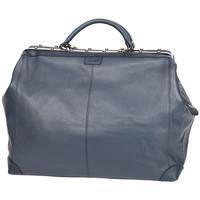 Sacs Femme Sacs porté main Katana Sac Squaremouth Cuir De Vachette 83255 - Taille L Bleu