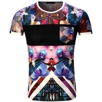 Vêtements Homme T-shirts manches courtes Monsieurmode T-shirt fashion pour homme T-shirt 1982 rose Rose