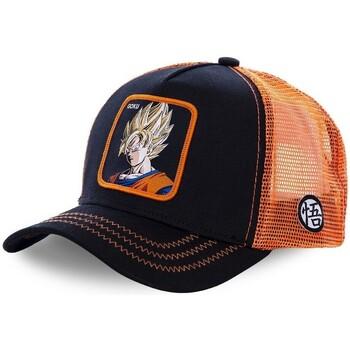 Accessoires textile Homme Casquettes Capslab Casquette  Dragon Ball Z Goku Saiyen Noir et Orange Noir