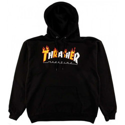 Vêtements Homme Sweats Thrasher Sweat flame mag hood Noir