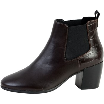 Chaussures Femme Bottines Geox Botte D N.LUCINDA Marron