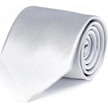 Vêtements Homme Cravates et accessoires Dandytouch Cravate unie Argent