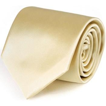 Vêtements Homme Cravates et accessoires Dandytouch Cravate unie Crème Crème