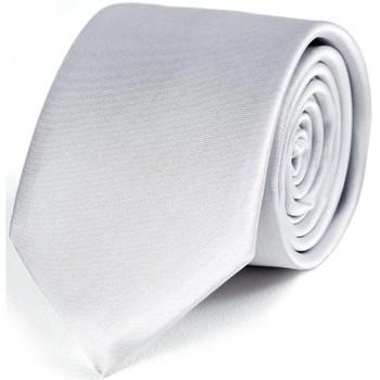 Vêtements Homme Cravates et accessoires Dandytouch Cravate Slim unie Argent