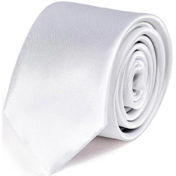Vêtements Homme Cravates et accessoires Dandytouch Cravate Slim unie Blanc