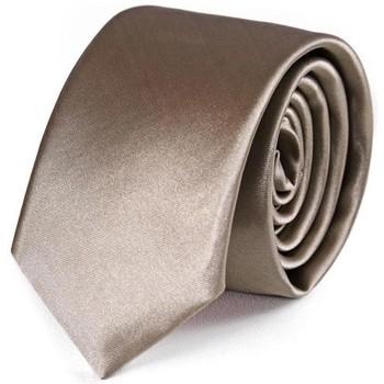 Vêtements Homme Cravates et accessoires Dandytouch Cravate Slim unie Taupe