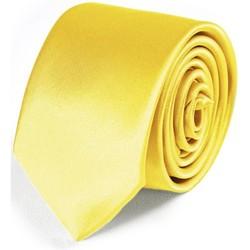 Vêtements Homme Cravates et accessoires Dandytouch Cravate Slim unie Jaune