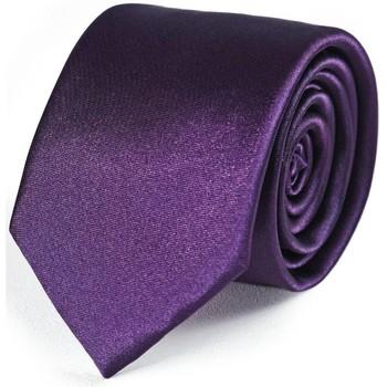 Cravates et accessoires Dandytouch Cravate Slim unie - Couleur - Prune