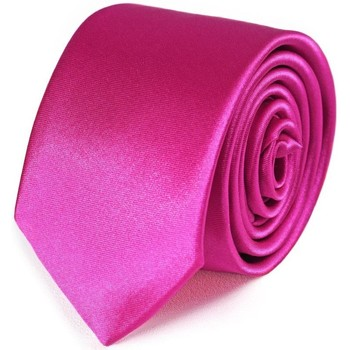 Vêtements Homme Cravates et accessoires Dandytouch Cravate Slim unie Fuchsia