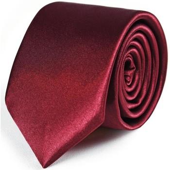 Vêtements Homme Cravates et accessoires Dandytouch Cravate Slim unie Bordeaux
