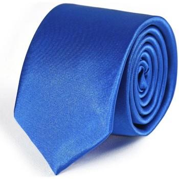 Vêtements Homme Cravates et accessoires Dandytouch Cravate Slim unie Bleu-roi