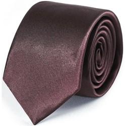 Vêtements Homme Cravates et accessoires Dandytouch Cravate Slim unie Acajou