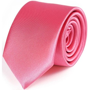 Vêtements Homme Cravates et accessoires Dandytouch Cravate Slim unie Rose-indien