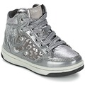 Chaussures Fille Baskets montantes Geox CREAMY A Argent