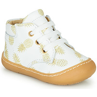 Chaussures Fille Baskets montantes GBB ATARINA Blanc / Doré