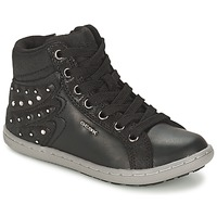 Chaussures Fille Baskets montantes Geox PRISCA A Noir