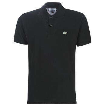 Vêtements Homme Polos manches courtes Lacoste POLO L12 12 CLASSIQUE Noir
