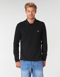 Vêtements Homme Polos manches longues Lacoste L1312 Noir