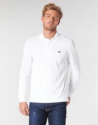 Vêtements Homme Polos manches longues Lacoste L1312 Blanc