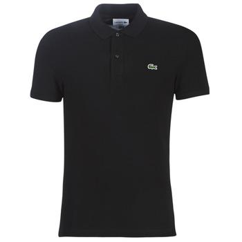 Vêtements Homme Polos manches courtes Lacoste PH4012 SLIM Noir