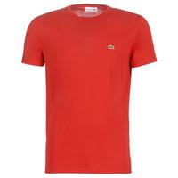Vêtements Homme T-shirts manches courtes Lacoste TH6709 Rouge