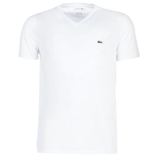Vêtements Homme T-shirts manches courtes Lacoste TH6710 Blanc