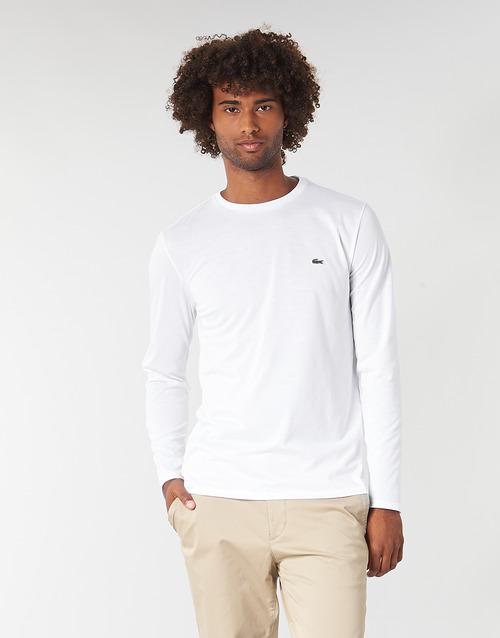 Vêtements Homme T-shirts manches longues Lacoste TH6712 Blanc