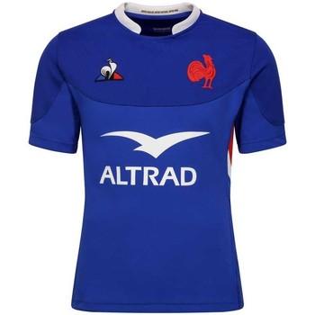 Vêtements Homme T-shirts manches courtes Le Coq Sportif Maillot rugby XV de France, ré Bleu