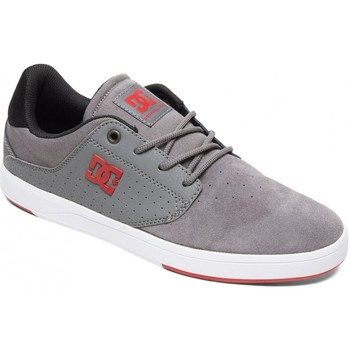 Chaussures Homme Chaussures de Skate DC Shoes PLAZA grey grey red Gris