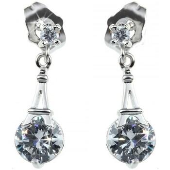 Montres & Bijoux Femme Boucles d'oreilles Sc Crystal BP058-B1220-BO-ARGENT+E000 Argenté