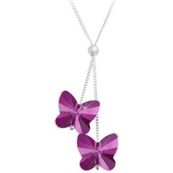 Montres & Bijoux Femme Colliers / Sautoirs Sc Crystal BS161-SN016-FUSH Rose