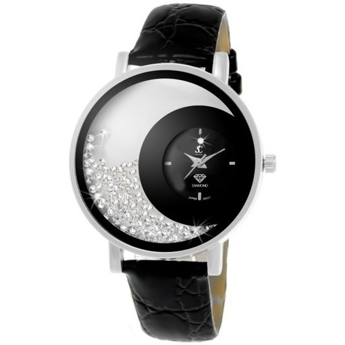 Noir Mf311 Crystal diamant Sc Montres Femme Analogiques mvn0N8Owy