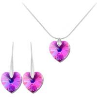Montres & Bijoux Femme Parures Sc Crystal BS001-SN016+SE003-FUSH Violet