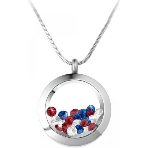 Bs1362 tricolore Sc Argenté ColliersSautoirs Femme Crystal FJlKc1