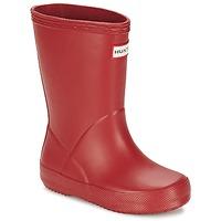 Chaussures Enfant Bottes de pluie Hunter KIDS FIRST CLASSIC Rouge