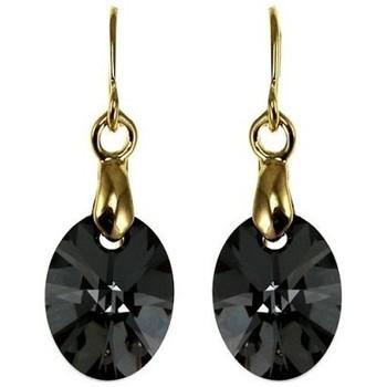 Montres & Bijoux Femme Boucles d'oreilles Sc Crystal BS008-SE005-SINI Noir